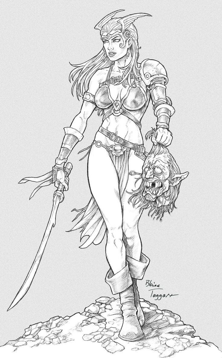 Free Coloring Pages Of Nude Women Warriors 55