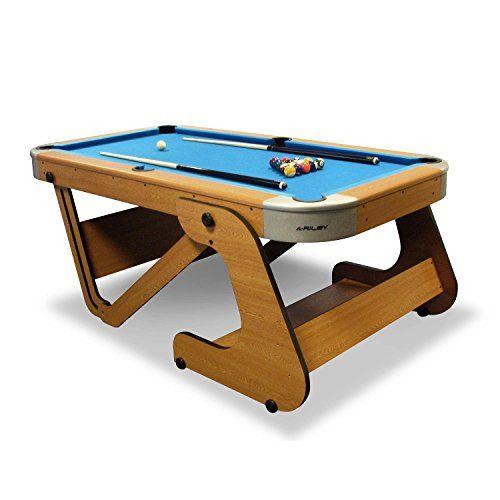 Riley Menu0027s Super Size Folding Pool Table   Beech, 6.6 Inch