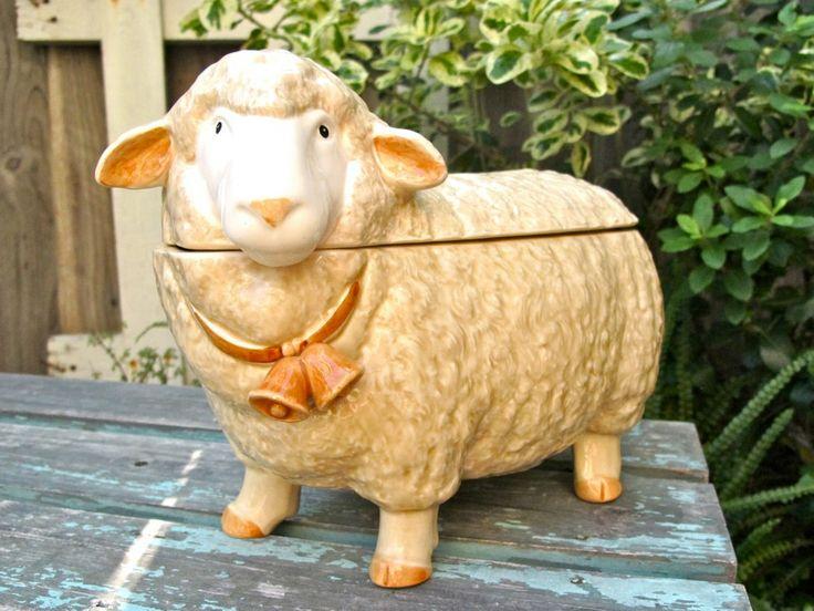 Vintage Cookie Jar, Sheep Otagiri Ceramic Cookie Jar, Farmhouse, French, Etsy.