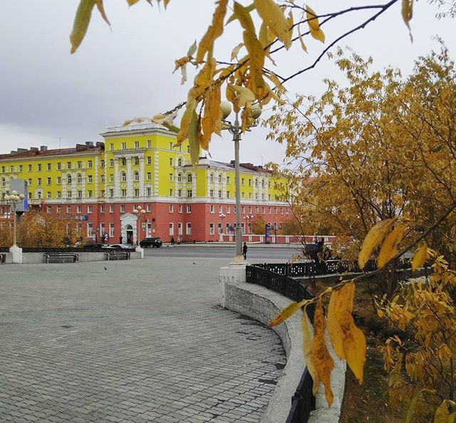 Norilsk autum night timelapse