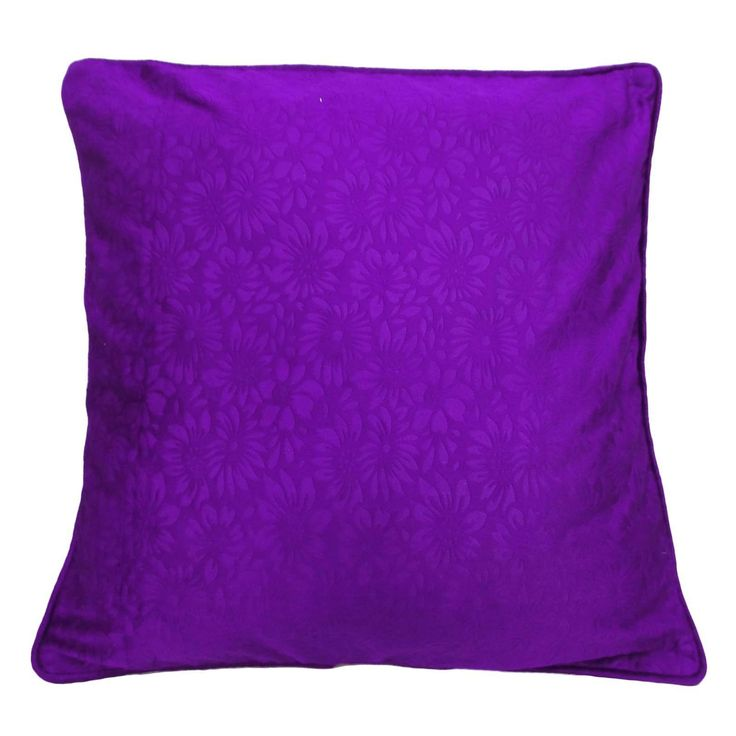 """Purple Cushion Cover Embossed Pillow Case Square Throw Home Decor 24""""Pl20339"""