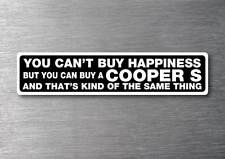 Buy a Cooper S sticker 7 yr water & fade proof vinyl sticker car mini