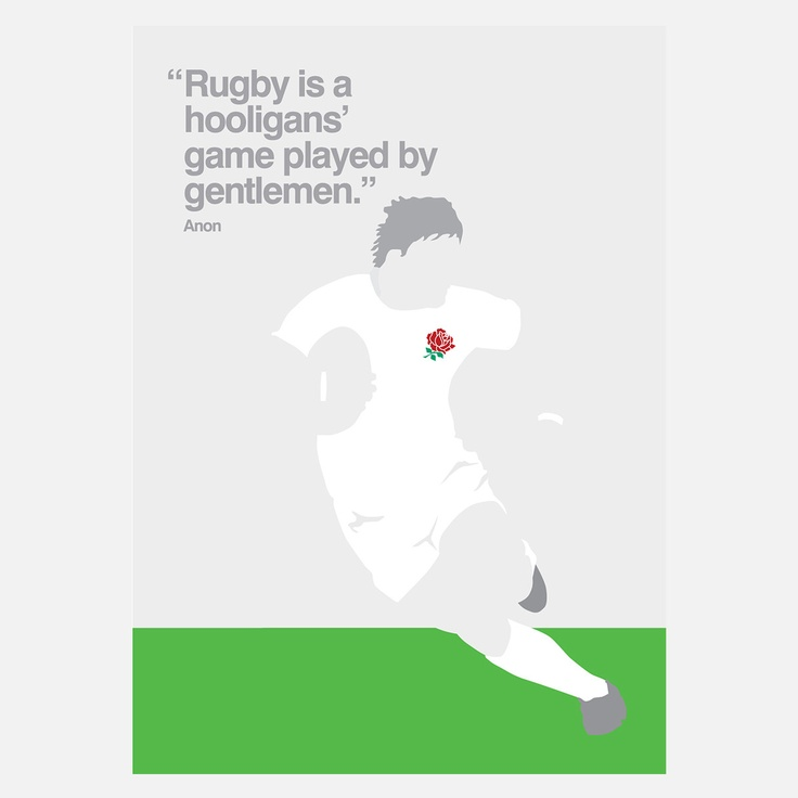 England Rugby Print  by My World