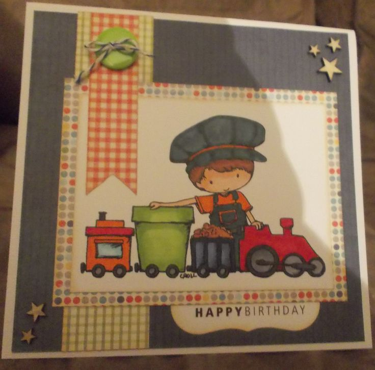 boy birthday, Tiddlyinks digi stamp