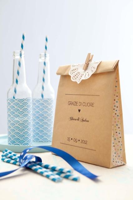 #diy #wedding #favor #kraft goody bag (ph. Giandomenico Frassi) @ArnoldoMondadoriEditore