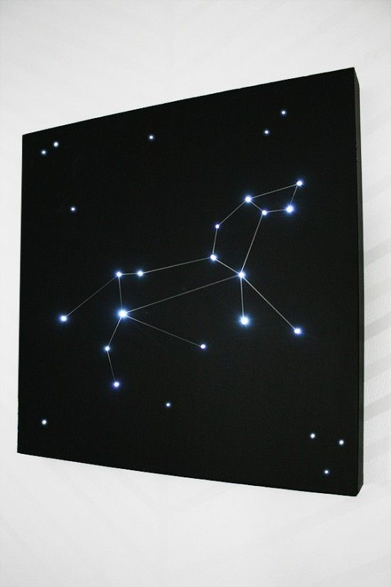 How to build a constellation light for a little astronomy in the bedroom | @offbeathome