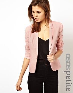 ASOS PETITE Linen Tailored Blazer $75