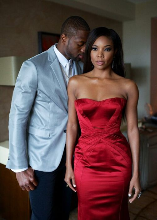 love them in this pic :)     Dwayne Wade and Gabrielle Union.... Perfection