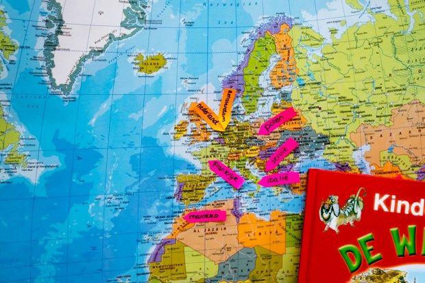 Wereld - Landen - Thema reisbureau - Klas van juf Linda