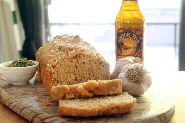 Garlic Beer Bread from @Bluebonnets & Brownies