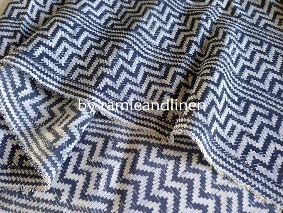 silk fabric vintage zigzag print crepe de chine by