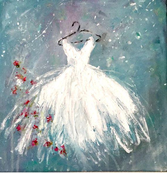 Tutu Painting Shabby Chic Original Acrylic