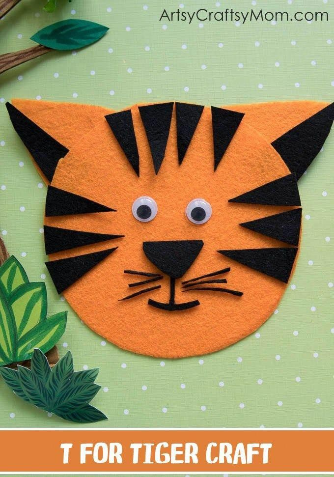 Zoocrafts Tiger Crafts Zoo Crafts Crafts For Kids