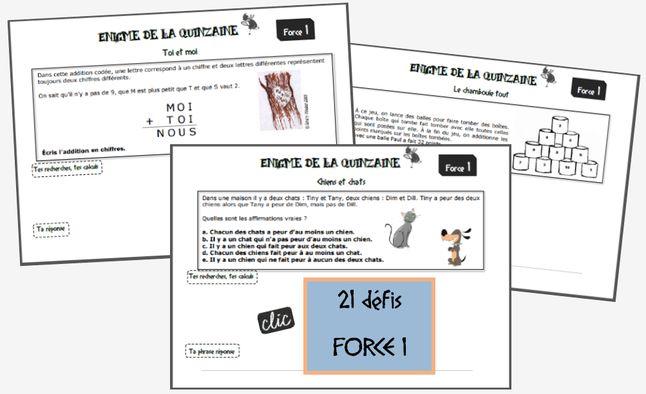 Les énigmes pour placer les élèves en situation de recherche