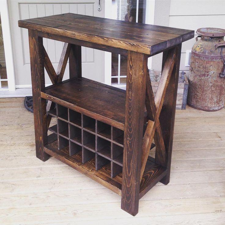 Tredd_furniture Modifications To The Rustic X Console · Garage  FurnitureFurniture MakingFarmhouse FurnitureFurniture PlansRustic ...