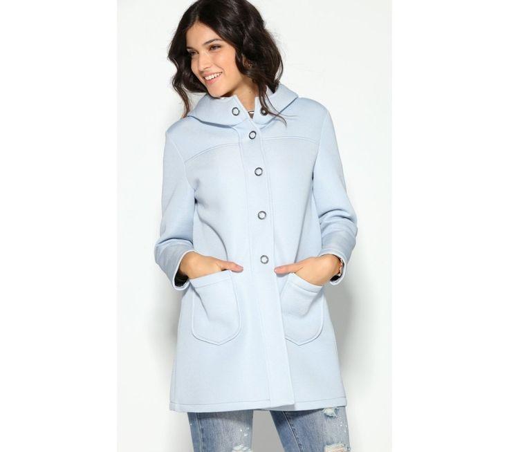 Kabát na patenty s kapucňou | modino.sk #ModinoSK #modino_sk #modino_style #style #fashion #newin