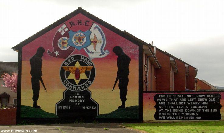 Mural unionista en el barrio protestante de Belfast.