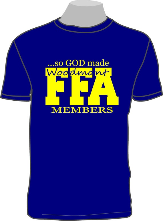 So god made a ffa member shirt with your by for Ffa t shirt design