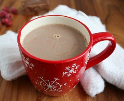 Raspberry Hot Chocolate--You should all try this-it's one of my favorite hot chocolates :)