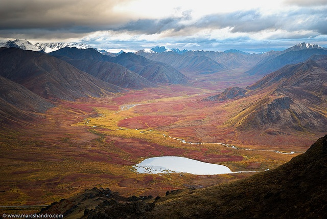 North Klondike Valley in autumn Yukon