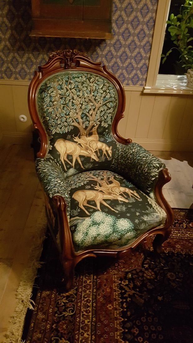 Armchair with Morris Fabric animal pattern