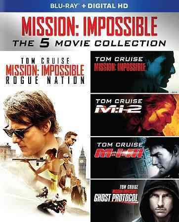 Tom Cruise stars as secret agent Ethan Hunt in this collection of five films from the MISSION: IMPOSSIBLE franchise. Titles include MISSION: IMPOSSIBLE (1996) directed by Brian De Palma, MISSION: IMPO