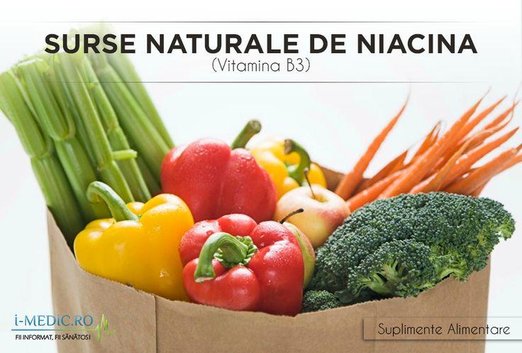 Niacina, cunoscuta si sub numele de vitamina B3 reprezinta una dintre cele mai importante vitamine din complexul vitaminic B.  http://www.i-medic.ro/diete/suplimente/surse-naturale-de-niacina