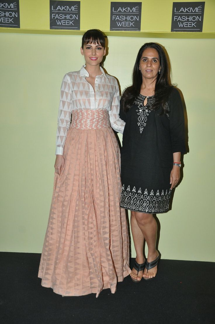 Anita Dongre with her muse Mandana Karimi for Lakme Fashion Week, Summer/Resort 2014 first look.
