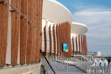 Rio Olympic arena by Wilkinson Eyre Architects in Rio de Janeiro, Brazil