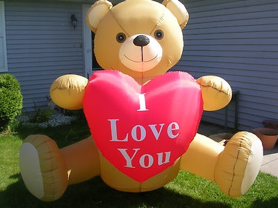 RARE~GEMMY~6 FT INFLATABLE~VALENTINES DAY~ANNIVERSARY~TEDDY BEAR~