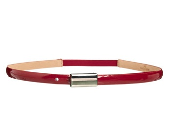 Top off your winter outfit with a skinny belt from Jacqui E.