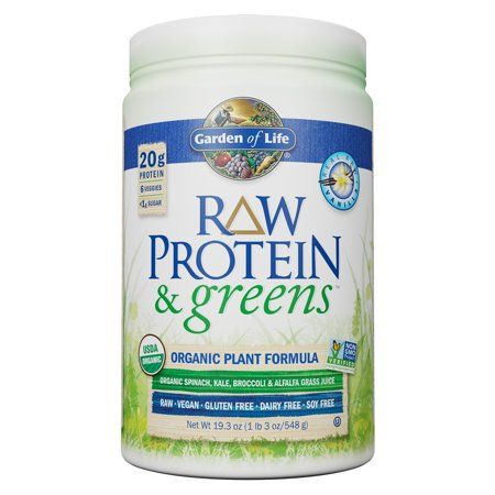Garden Of Life Raw Protein And Greens Vanilla 19 3 Oz 1lb 3 Oz