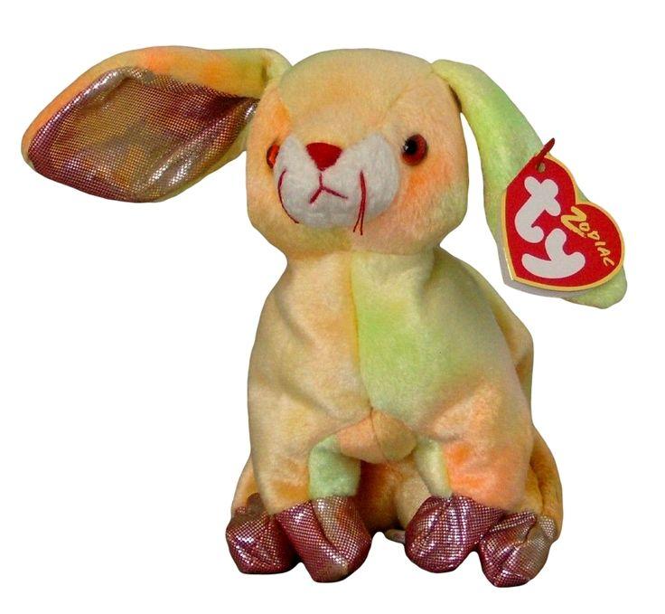 ty zodiac collection rabbit beanie baby beanbag plush