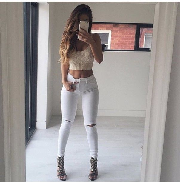 51 best ideas about White jeans & heels on Pinterest | White jeans ...