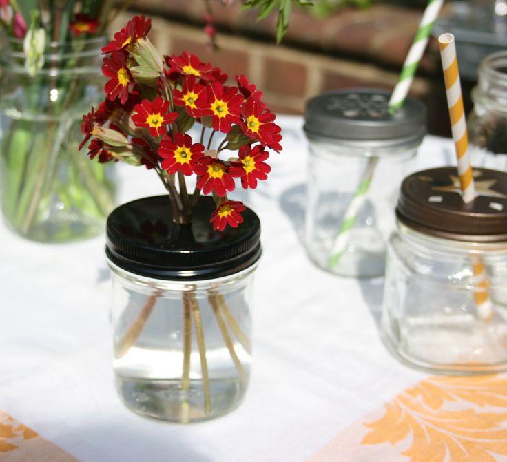 93 best images about daisy mason lids star mason lids mason jar straw lids paper straw - Stemmed mason jars ...