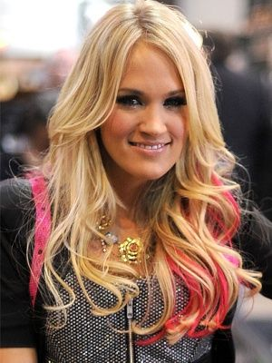 Celebrity Trend: Colorful Hair Streaks ... have been dying to put pink in my hair, maybe summer 2014 (: