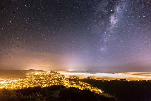 The Stars Above And The Fog Below (Wellington, New Zealand)