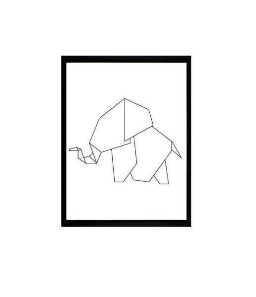Origami Elephant von J.E.WELS & GRAPHICS BERLIN auf DaWanda.com
