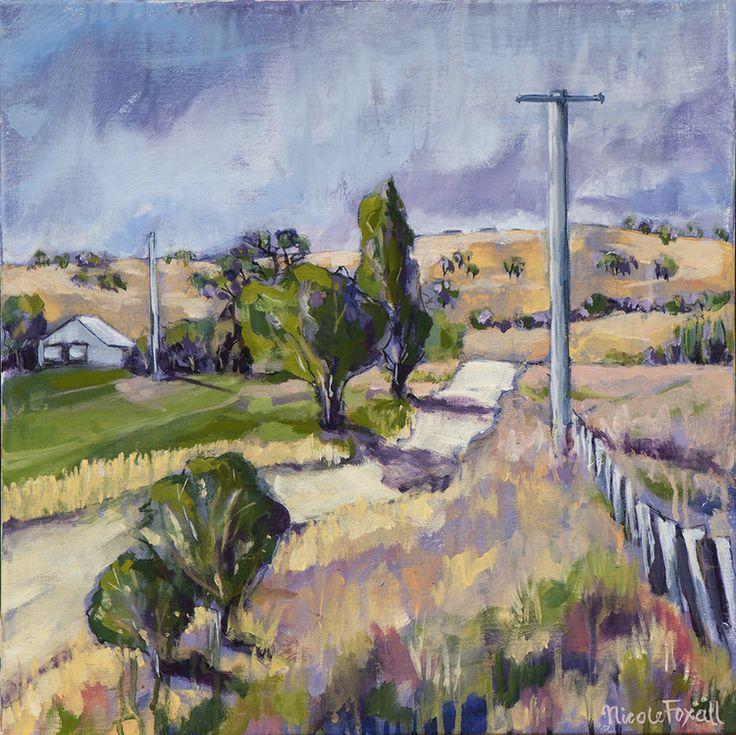 Nicole Foxall, Bathurst Flats II , acrylic on canvas, 50x50cm, SOLD - The Corner Store Gallery