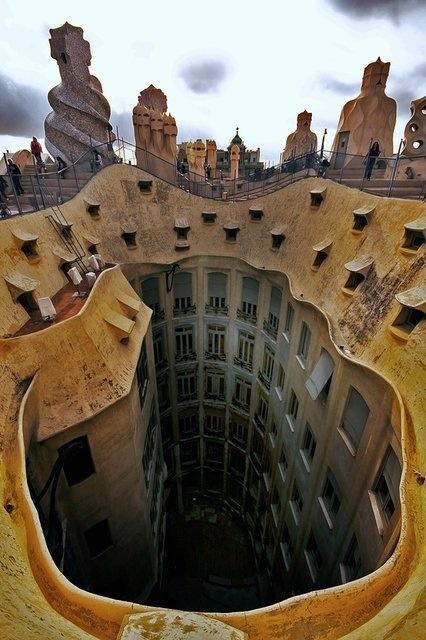 Casa Mila in BarcelonaBarcelonaspain, Barcelona Barcelona, Architecture, Places, Quarry, Casa Mila, Barcelona Spain, Antonio Gaudi, Antoni Gaudí