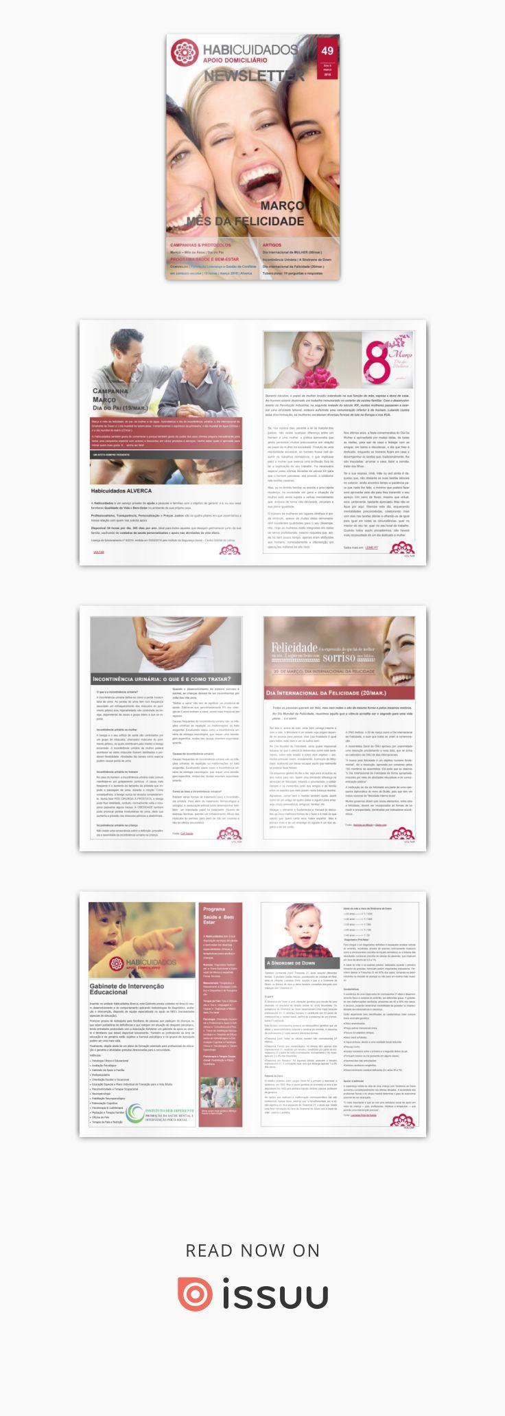 MÊS DA FELICIDADE | edição 49 | março 2018 | Habicuidados Alverca Newsletter  CAMPANHA março: Dia do Pai ARTIGOS:  Dia Internacional da MULHER (08/mar.) Incontinência Urinária Dia internacional da Felicidade (20/mar.) PROGRAMA SAÚDE E BEM-ESTAR | Gabinete de Intervenção Educacional Comunilog | Formação Suporte Básico de Vida | 4 horas | fevereiro 2018 | Alverca ARTIGOS: A Síndrome de Down Tuberculose: 10 perguntas e respostas PROTOCOLOS, PARCERIAS E CONTATOS