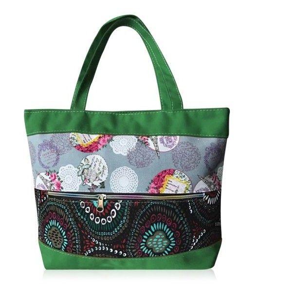 Zipper Floral Print Colour Block Shoulder Bag Green ($7.48) ❤ liked on Polyvore featuring bags, handbags, shoulder bags, floral print purse, green shoulder bag, color block purses, floral shoulder bag and floral handbags