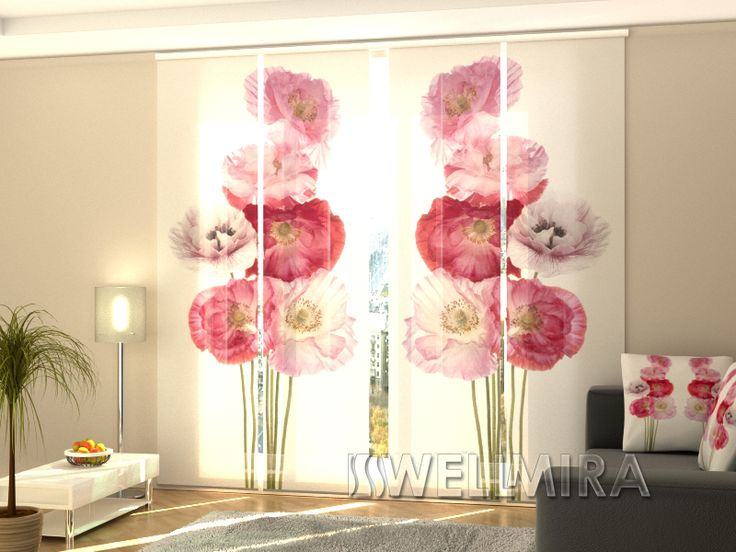51 best Set of 4 Panel curtains Flowers images on Pinterest | Panel ...