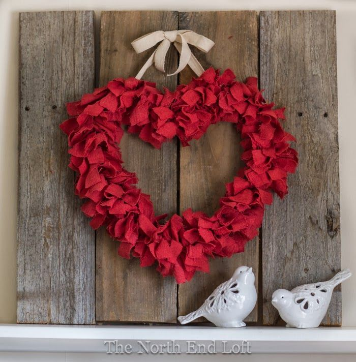 The North End Loft: Valentine's Day Rag Wreath