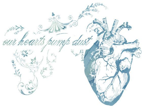 Our Hearts Pump Dust  8x10 Fine Art Print by thoughtbubble on Etsy, $15.00