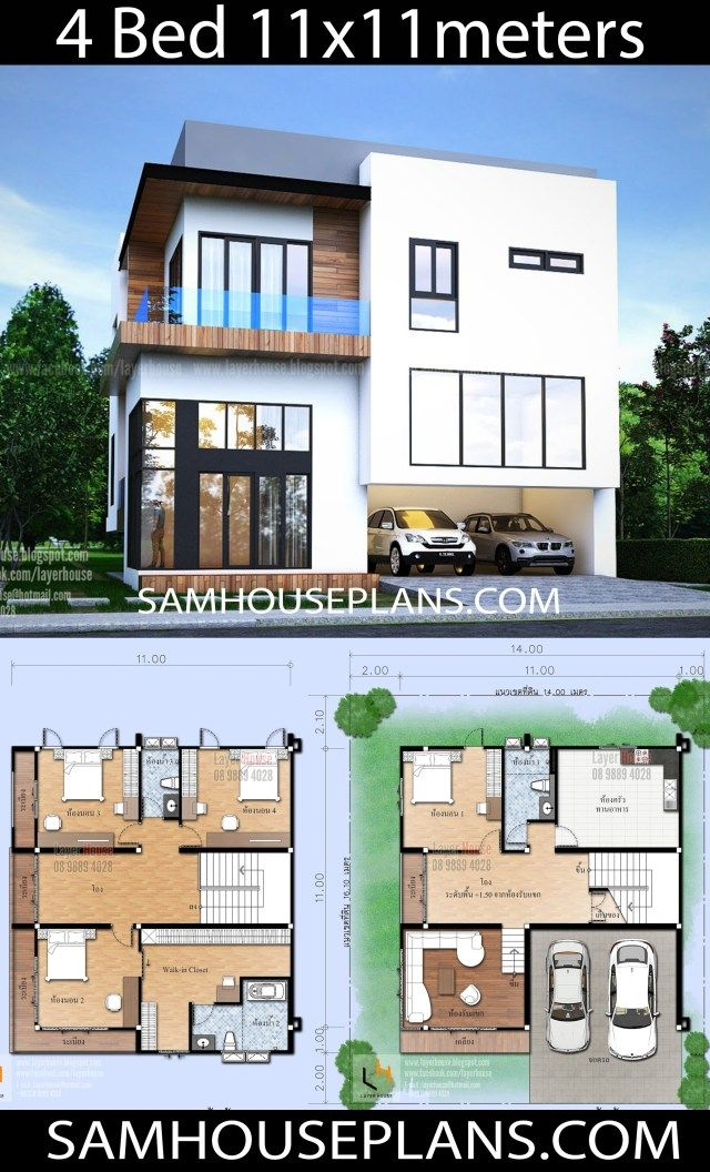 House Plans 11x11 With 4 Bedrooms With Images House Layout