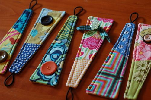 fabric cuff bracelets.. would sell well at craft fairs I think...