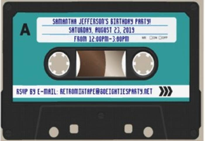Invitation Design for an 80s party perhaps?  Hmmm...