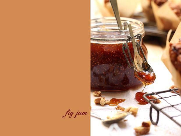 homemade fig jam with muesli, fig, ginger & walnut breakfast muffins. Indulge!