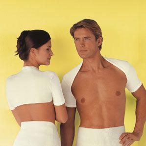 Schulterwärmer 1/4 Arm mit 46% Angora und 9% Elasthan: Sangora Wärmeunterwäsche mit 46% Angora, Entspannung durch natürliche Wärme